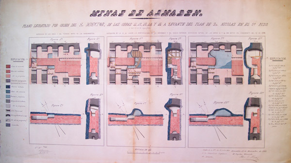 Map of San Nicolás.1889.Historical Almadén Mines Archive.